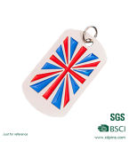 Fabrik-kundenspezifischer Decklack-BRITISCHE Markierungsfahnen-Hundeplakette