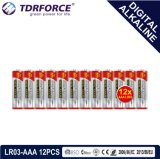1.5V中国の製造のデジタル一次アルカリ乾電池(LR03-AAA 12PCS)