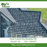 Telha de telhado de aço da microplaqueta revestida de pedra (telha de madeira)