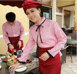 Рубашка пальто прутковой работы кафа кухни гостиницы куртки шеф-поваров официантки кельнера равномерная