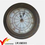 ホームおよび屋外の装飾のための旧式で大きい型のオールドスタイルの産業金属の芸術の柱時計