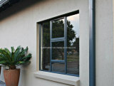 Hinged Prehung Aluminum Awning Knell Windows with Blinds