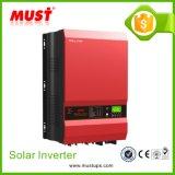 يجب التجارية: منخفض التردد محض موجة جيبية 12V / 24V / 48V العاكس للطاقة الشمسية مع وحدة تحكم MPPT 12KW مع النحاس النقي محول للطاقة لمولد