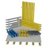 Plástico reforzado con fibra de alta resistencia Rejilla Pultruded Perfil U