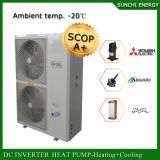 Type d'intérieur cop élevé -25c Amb de condenseur fendu. La technologie 12kw/19kw/35kw d'Evi de chauffage de Chambre de l'hiver Automatique-Dégivrent comment une pompe à chaleur fonctionne