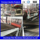 PVC 환경 보호 최신 용해 살포 두 배 색깔 차 지면 매트 플라스틱 밀어남 기계
