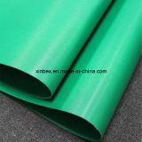ファブリックまたはファイバーまたは綿ポリエステル緑PVC/PUの二重産業コンベヤーベルト