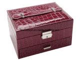 Хранение устроителя зеркала состава кожи коробки ювелирных изделий корпии 2-Слоя