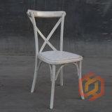 중국 제조자 너도밤나무 오크 나무로 되는 십자가 뒤 등나무 매트 의자