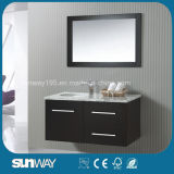 Vanità di legno solida della stanza da bagno di nuovo stile dell'America con lo specchio