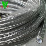 Mangueira do chuveiro de pressão alta, 304 aço inoxidável Conexões da Mangueira Hidráulica do tubo de PTFE