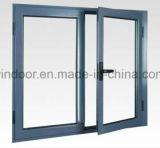 Finestra di alluminio di applicazione della villa di vetratura doppia di PVDF