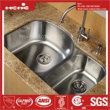 ステンレス鋼の台所の流しは、Cupcの台紙の倍ボールの台所の流しの下のステンレス鋼承認した
