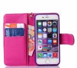 iPhone 8을%s 최신 돋을새김된 분홍색 PU 가죽 이동 전화 상자