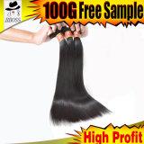9A 100% naturel les Extensions de cheveux humains