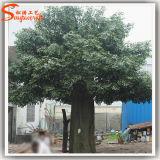 Albero artificiale del Ficus della grande vetroresina ornamentale sempreverde
