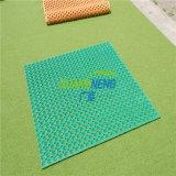 Césped antifatiga piso de goma antideslizante, Jardín al aire libre alfombrilla de goma
