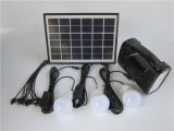 Lámpara Solar con luz solar Solar Kit Kits de lámpara de lectura de la luz de panel solar 5W con radio FM