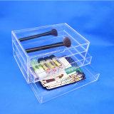 Cadre de mémoire cosmétique à trois niveaux de tiroir transparent acrylique