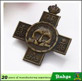 Brass su ordinazione Cross Badge per Souvenir