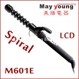 M601e螺線形のTourlineのコーティングのバレルLCDのヘア・カーラー