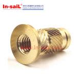 Noix en laiton de fournisseur de dispositif de fixation de la Chine pour l'interpréteur de commandes interactif de boîtier plastique ou de téléphone