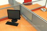 Moderner 4 Seater Büro-Arbeitsplatz-modulare Aluminiumpartition (HF-YZ009)