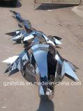 Абстрактный просто крокодил, крытые декоративные напольные корабли скульптуры сада