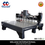 Machine CNC plat Multi-Heads Woodworking cnc machine de gravure