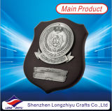 Plaque van de Medaille van Tophy van het Schild van de Medaille van het Metaal van het email de Houten