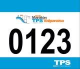 Numéros faits sur commande de bavoir de vélo imprimés par fonctionnement de papier imperméable à l'eau de marathon de Tyvek