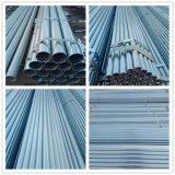A China o fabrico de tubos de aço galvanizado médios quente para o Material de Construção