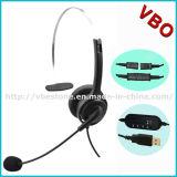 Call center più poco costosa Monaural Rj Headset con Noise Cancelling Mic Boom per Telemarketing