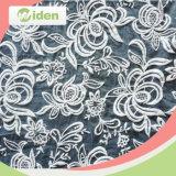 Lovely Gray Color Patterns de borracha Organza Tela de renda para vestuário