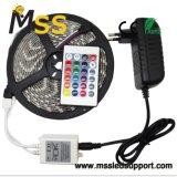 5050 SMD LED RGB luz faixa com controlo remoto de infravermelhos 12V CA