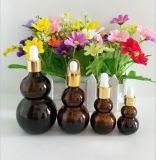 Neuer Entwurfcalabash-bernsteinfarbige Glasflasche für das kosmetische Verpacken