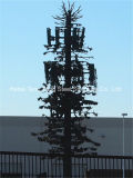 Профессиональным закамуфлированная изготовлением башня вала искусственной связи стальная Monopole