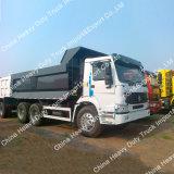 건축 작업을%s HOWO 3 차축 10 짐수레꾼 덤프 트럭