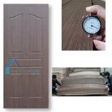 Placage en bois naturel en noyer foncé Revêtement de contreplaqué moulé Peau de porte