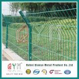 Cerca horizontal doble del jardín del metal de la cerca de alambre