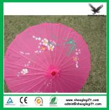 Impressão personalizada de casamento de papel de bambu Umbrella