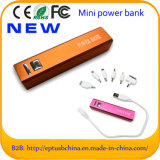 Cargador al por mayor de la batería de la potencia con la insignia de encargo para la muestra libre