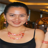 Collar de perlas multicapas resina de la manera con los pendientes y de la joyería pulsera