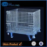 Rollen Folding Stackable Wire Mesh Container mit Caster