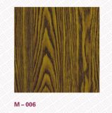304 PVC Laminated Stainless Steel Wood Grain Door in Laminas Metal Decoration