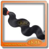 Kein verschüttendes brasilianisches Haar-Strahlen-Schwarz-Menschenhaar