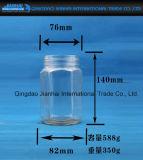 Frasco De Jar Jam De Vidro Hexgonal Com Tampão De Prova De Fuga