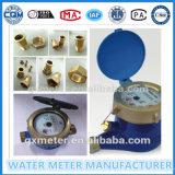 Medidor de água mecânico frio do Multi-Jato de bronze