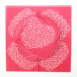 Wegwerfbares Party Paper Napkin mit Pink Heart Printed