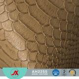 Tessuto di cuoio del PVC impresso serpente per uso del raccoglitore e della borsa, molto modo e vendita popolare